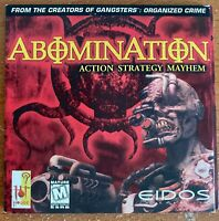 ABOMINATION Action Strategy Mayhem PC CD Game, 1999