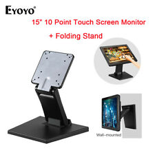 "EYOYO 15""LCD Touchscreen Monitor HDMI VGA In. LCD Display +Adjustable Stand Desk"