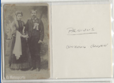 Antique CDV photo Wedding Couple in wedding garments