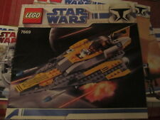 Lego Anakin's Jedi Starfighter 7669 Instruction Manual book ONLY