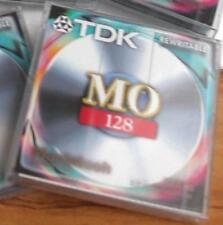 "TDK REWRITABLE 3.5"" 128Mb MAGNETO-OPTICAL DISK - MAC FORMATTED - SEALED"