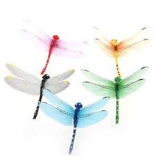 5pcs 8cm 3D Artificial Dragonflies Fridge Magnet fr Christmas Wedding Decor T1