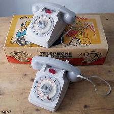 """Jouets anciens : 2 téléphones électriques """"Rolphone"""" dans boîte d'origine"""
