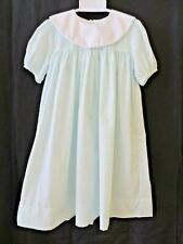 Petit Ami Dress Short Sleeve Green with White Round Collar Size 6X #9569