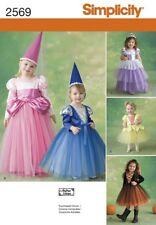 Simplicity 2569 Toddler Princess Fairy Witch Costume Pattern ½ -3 or 4-8