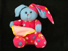 Fiesta Pink Polka Dot Bunny Rabbit Plush Pajamas PJS Soft Toy Stuffed Animal