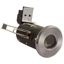Satin Chrome Fire Rated Bathroom / Shower Ceiling Down Light IP65 GU10 FLF18 X 6