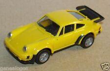 MICRO HERPA HO 1/86 1/87 PORSCHE 911 TURBO JAUNE