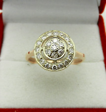 Russian Style  583(14k) Rose Pink Gold Genuine Diamonds 0.55 tcw Ring