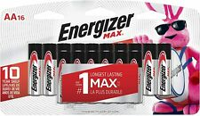 Energizer AA Batteries (16 Count), Double A Max Alkaline Battery