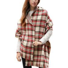 Châles/écharpe à motif Écossais beiges et carreaux pour femme