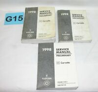1998 Chevrolet Corvette Factory Preliminary Service Manual Set USED #G15