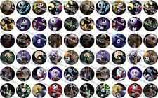 "60 Precut 1"" Nightmare Before Christmas Bottle cap Images Set 2"