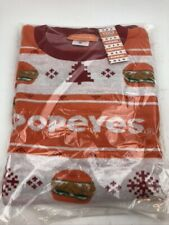 New Popeyes Chicken Sandwich Ugly Christmas Sweater Men's Size XXL Free Shipping