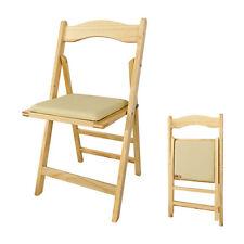 SoBuy®Sillla plegable,sillla de madera,silla de comedor,color:natural,FST06-N,ES