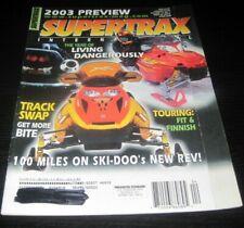 Vintage SuperTrax Snowmobile Magazine Yamaha Arctic Cat Polaris Ski Doo 2002
