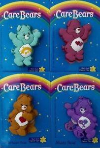 SET 4x UK CARE BEARS PINS SHARE BEAR / WISH / TENDERHEART & LOVE-A-LOT CAREBEARS