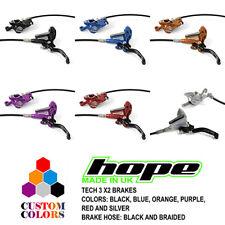 Hope Tech 3 X2 XC Brakes - Black / Braided Hose - All Colors - Brand New