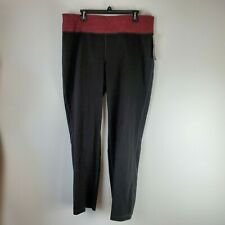 Ideaology Believe in Motion Walk/exercise Pants Cotton/Spandex Black/Red Size 2X