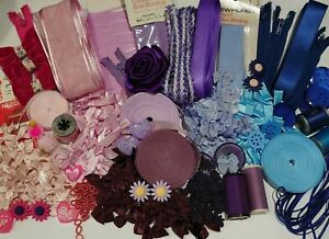 Crafters £10 dream box Assorted haberdashery ZIPS~NEEDLES~BOWS~ETC Approx. 500g