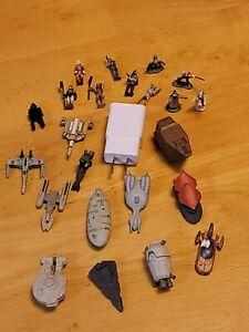 Star Wars LGTI Micro Machines Lot of  12 Vehicles LFL Mini  Ships and 11 Figures