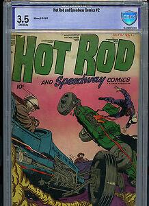 Hot Rod & Speedway #2 CBCS 3.5 Hillman Golden Age 1952 Amricons B21B