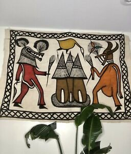Authentic Korhogo Mudcloth Wall Art/ Wall Hanging/Tribal Painting