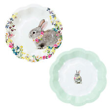 12 x Vintage Style Pretty Bunny Plates Afternoon Tea Paper Plates Easter Plates
