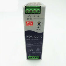 1pc New MEAN WELL Rail Switching Power Supply WDR-120-12 ( 12V 10A )