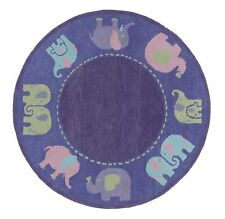 Elephanta Purple Color Hand Tufted Woolen Area Rug