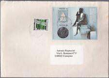 Svizzera Helvetia 150 anni del francobollo STRUBEL Usato su una busta vedi foto