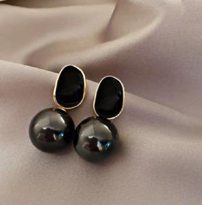 Elegant and Trendy Big Pearl Dangle Drop Stud  earrings for Wome UK