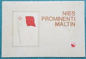 1974 Malta Prominent Maltese People - Presentation folder + Special Hand Cancel