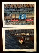 (2) LOT 2008 Katsuyuki Nishijima PENCIL Signed /500 RAIN Original Japanese Print