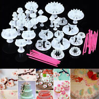 47pcs Fondant Cake Cutter Mold Cookie Sugarcraft Plunger Mould Decorating Tools