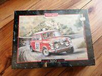 NEW Waddingtons Deluxe 500 Piece puzzle ULTRA RARE MINI COOPER 1964 MONTE CARLO