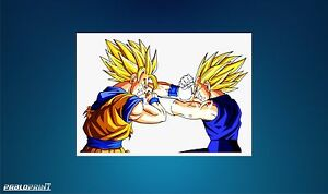 New Dragon Ball Z Super Framed A4 Vegeta Goku DBZ Akira Toriyama Gift Birthday