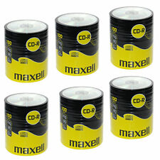 600 Maxell CD-R 700mb 80Min 52x Blank Recordable Discs Data Music In Shrinkwrap