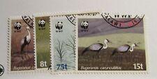 MALAWI  Sc #494 495 496 497 Θ used set postage stamp, WWF,  birds , Fine +