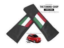 """2 X Almohadillas cubiertas de cinturón de seguridad de cuero negro """"diseño de estilo italiano PRIDE"""""""