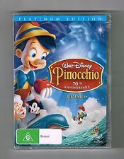 Pinocchio - 70th Anniversary Walt Disney Dvd 2-Disc Set Brand New & Sealed