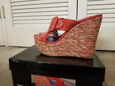 Luichiny Wedge Sandal Amil Ya Coral Size 10M Patent Leather Colorful heel
