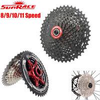 Sunrace 8/9/10/11 Speed MTB Road Bike Cassette Shimano SRAM Cassettes Freewheel
