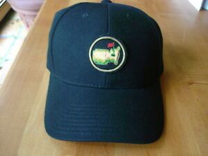 RARE Black EARLY LOGO AUGUSTA NATIONAL GOLF CLUB Members Only Masters Hat