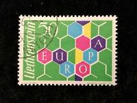 """Liechtenstein 1960 - MiNr. 398 Wabenmuster mit Inschrift """"EUROPA"""" 50 (Rp)"""