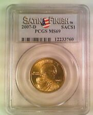 2007-D Sacajawea Native American Dollar PCGS MS69 Satin Finish