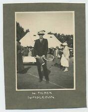 "Tennis Player William Tilden ""Big Bill"" at Wimbledon 1922 Albumen Photograph L1"
