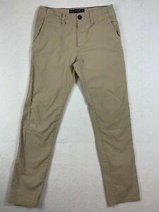 American Eagle Core Flex Slim Straight Khaki Chino Pants Mens 29x32 Brown Casual