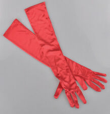 """New Women's Evening Party Formal Costume Gloves 22"""" Long Satin Finger Mittens US"""