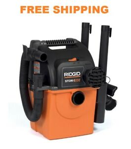 Ridgid 5-Gal Shop Vacuum Wet Dry Wall-Mount Vac Cleaner Blower Car Portable